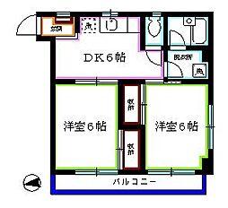 東京都西東京市栄町2丁目の賃貸マンションの間取り