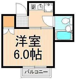 前川ビル[302号室]の間取り