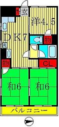 コーポヒロ[3階]の間取り
