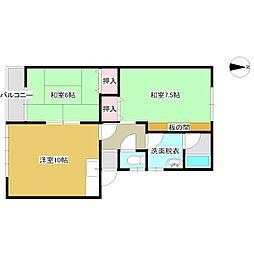シャトレーハウス[105号室号室]の間取り