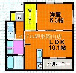 OCTO Casa Omachi II 1階1LDKの間取り