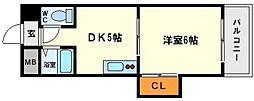 ローズコーポ新大阪7[12階]の間取り