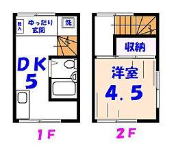 [テラスハウス] 千葉県市川市市川南4丁目 の賃貸【/】の間取り