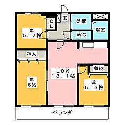 シティ・ライフ高島[1階]の間取り
