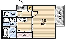 フェアリーハイム松原[3階]の間取り