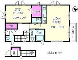神奈川県藤沢市鵠沼松が岡2丁目の賃貸アパートの間取り