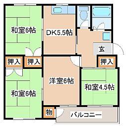 兵庫県神戸市須磨区菅の台5丁目の賃貸マンションの間取り