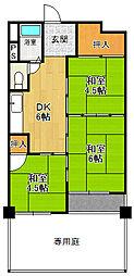 甲子園第3コーポラス[1階]の間取り