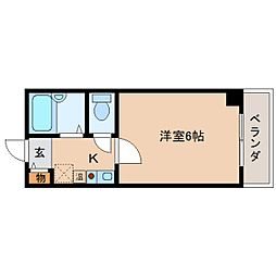 奈良県奈良市東向北町の賃貸マンションの間取り