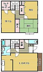 [テラスハウス] 大阪府高槻市西五百住町 の賃貸【/】の間取り