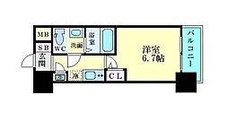 JR東海道・山陽本線 東淀川駅 徒歩1分の賃貸マンション 5階1Kの間取り