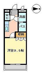 メルヴェーユ宮崎[210号室]の間取り