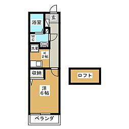 Castle Shinraku[2階]の間取り