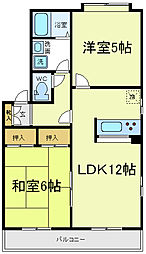 [タウンハウス] 大阪府大阪市阿倍野区共立通2丁目 の賃貸【/】の間取り
