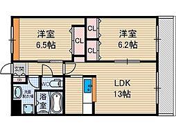 エスポアール美奈原[2階]の間取り