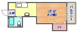 シャトー御影[6階]の間取り