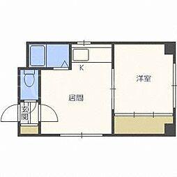 北海道札幌市西区二十四軒四条2丁目の賃貸アパートの間取り