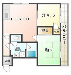 レスターテII[3階]の間取り