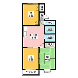 レ・ブラン・カミーリア B棟[1階]の間取り