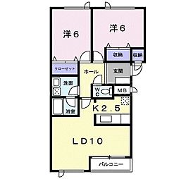 ハートフルハウス[1階]の間取り