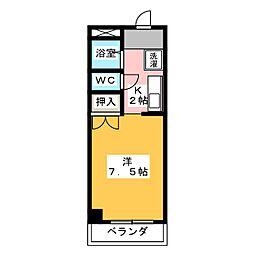 サンビューラー[3階]の間取り