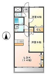 マイタウン松阪[3階]の間取り