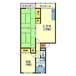 新庄マンション[303号室]の間取り