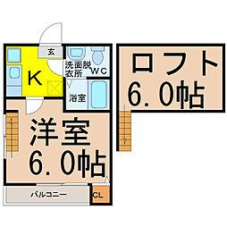 愛知県名古屋市南区星宮町の賃貸アパートの間取り