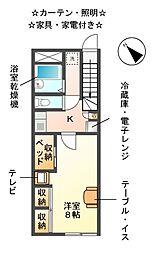 レオパレスTOKI[2階]の間取り