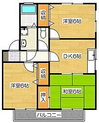 セジュール戸田[2階]の間取り