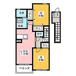 グランツ・ニムラ[2階]の間取り