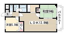 メゾン五反田[503号室]の間取り
