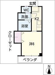 安田学研会館中棟(オートロック)[1階]の間取り