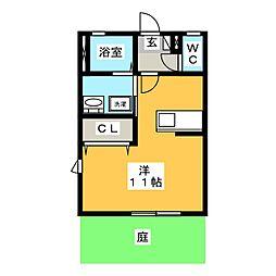 ディアスしおん[1階]の間取り