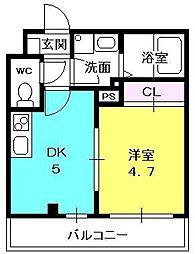 パークステージ夙川[206号室]の間取り