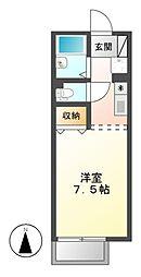 セジュール池端パークA棟[2階]の間取り