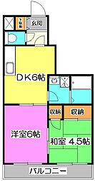 コンフォートMII[2階]の間取り