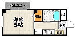 ビュー北花田[3階]の間取り