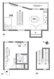 シモキタハウス[3階]の間取り