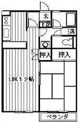 神奈川県相模原市南区相模大野7丁目の賃貸マンションの間取り