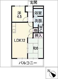 メゾン・ド・ラピュタ[1階]の間取り