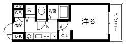プレサンス上町台東平[5階]の間取り