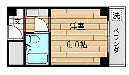 グローバル八戸ノ里II[304号室]の間取り
