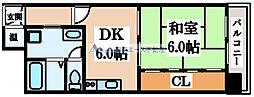 朝日プラザ高津II[7階]の間取り