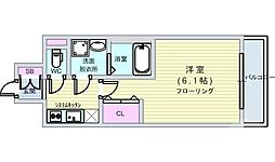 Osaka Metro千日前線 阿波座駅 徒歩4分の賃貸マンション 10階1Kの間取り