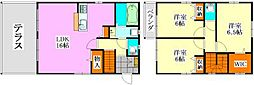 [一戸建] 千葉県船橋市飯山満町3丁目 の賃貸【/】の間取り