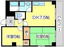 都島リバーサイド[2階]の間取り