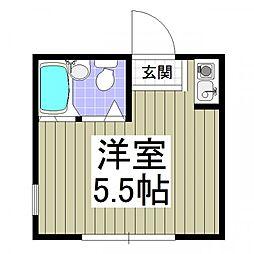 埼玉県川越市大字小堤の賃貸アパートの間取り