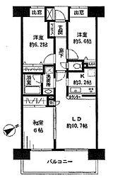 ライオンズマンション西船橋駅前[11階]の間取り