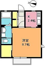 埼玉県さいたま市浦和区常盤10丁目の賃貸アパートの間取り